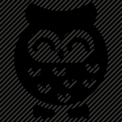 Wise bird, owl, owl cartoon, cute cartoon, cute owl icon
