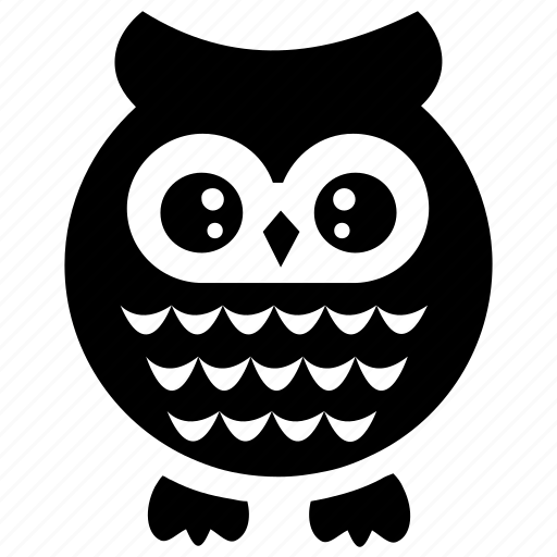 cute cartoon, cute owl, owl, owl cartoon, wise bird icon
