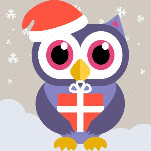 Christmas Owl.Owl Christmas 1 By Strongicon