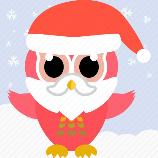 animal, bird, celebration, christmas, cute, fowl, owl icon