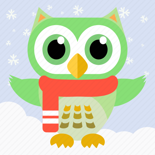 Animal, bird, celebration, christmas, fowl, owl, party icon - Download on Iconfinder