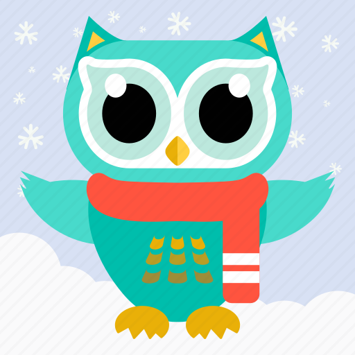 Animal, bird, celebration, christmas, cute, fowl, owl icon - Download on Iconfinder