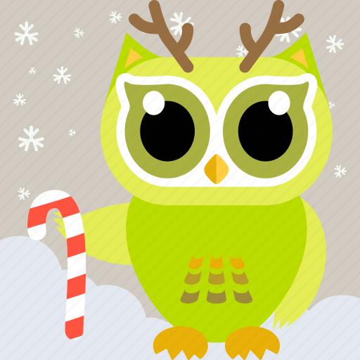 Animal, bird, celebration, christmas, fowl, owl, party icon - Download on Iconfinder