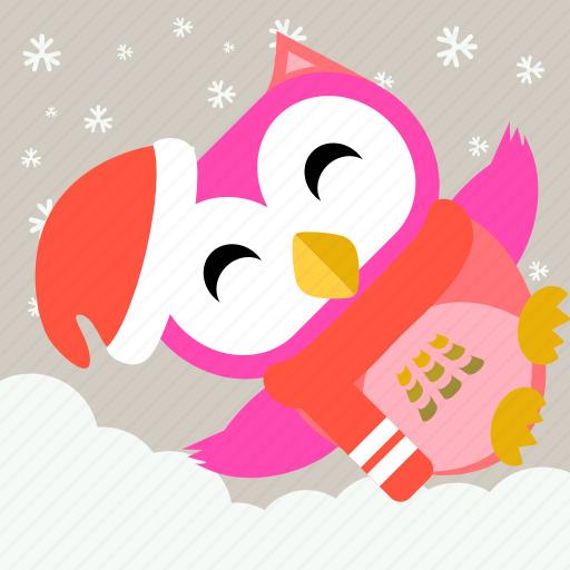 Animal, bird, celebration, christmas, cute, fowl, owl icon - Download on Iconfinder