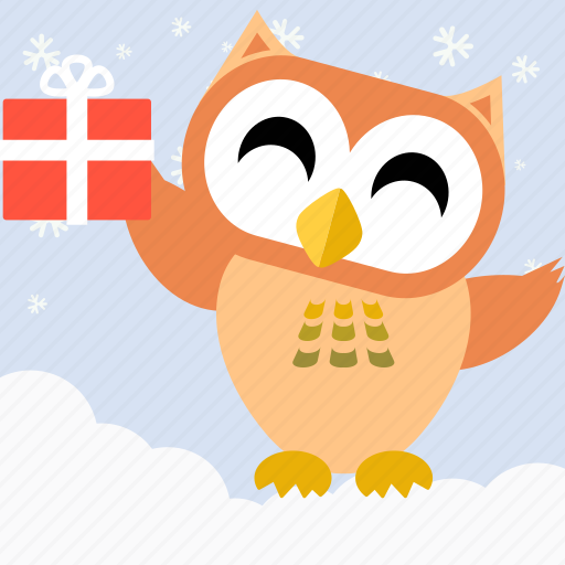 Bird, celebration, christmas, cute, fowl, owl, party icon - Download on Iconfinder