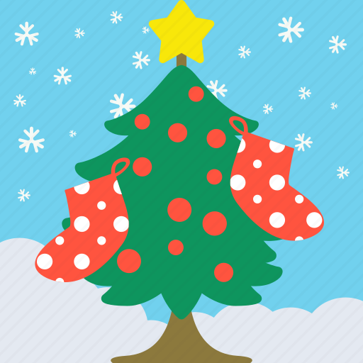 celebration, christmas, cute, party, pine, tree icon
