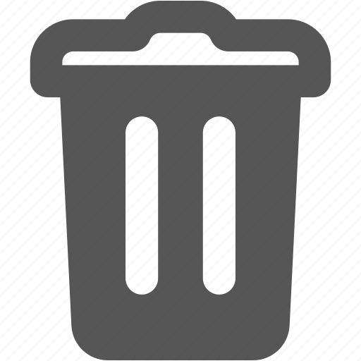 bin, delete, dustbin, exit, trash, waste basket, waste bin icon
