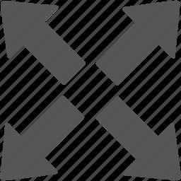 arrow, direction, maximize, navigation, next, resize, window icon