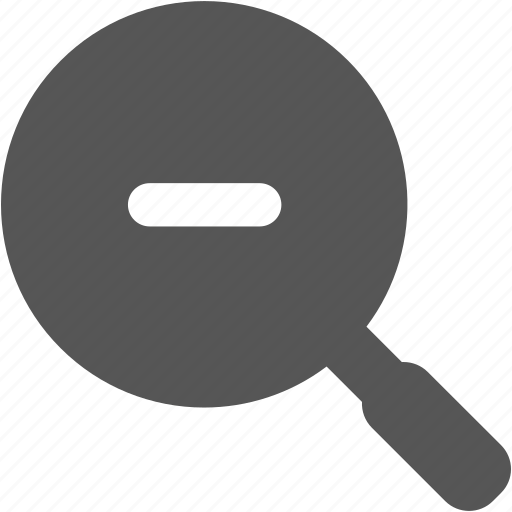 magnifier, magnifying glass, miniature, search, shrink, zoom, zoom out icon