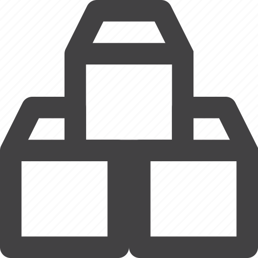 boxes, packages, shipping, software icon