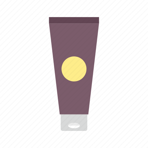 cosmetic, cream, cream tube, lotion, package, packaging, tube icon