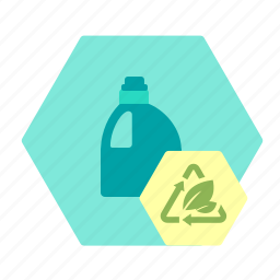 bioplast, clean, detergent, fill, oil, packaging, sustainable icon