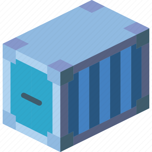 container, iso, isometric, packing, shipping icon
