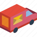 isometric, shipping, delivery, packing, iso, truck icon