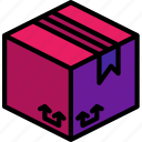 box, cardboard, iso, isometric, packing, shipping icon