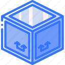 crate, iso, isometric, packing, shipping icon