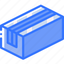 box, iso, isometric, long, packing, shipping icon