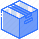 box, carboard, iso, isometric, packing, shipping icon