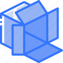 box, iso, isometric, packing, shipping icon