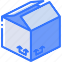 box, iso, isometric, packing, shipping, up icon