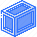 crate, iso, isometric, long, packing, shipping icon