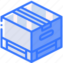 box, iso, isometric, packing, pallette, shipping