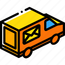 isometric, shipping, delivery, packing, iso, truck