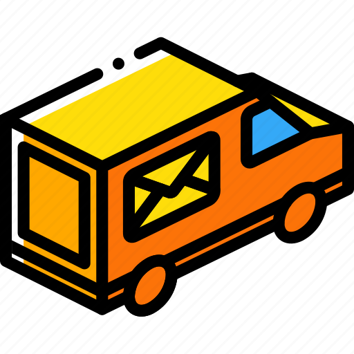 delivery, iso, isometric, packing, shipping, truck icon