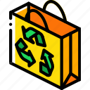 bag, iso, isometric, packing, recycled, shipping icon