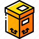 box, iso, isometric, packing, shipping, tall icon