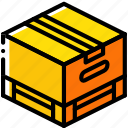 box, iso, isometric, packing, pallette, shipping icon