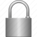 big, iron, lock, padlock, protection, secure, security icon