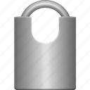 iron, lock, medium, padlock, protection, secure, security icon