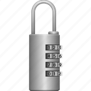iron, lock, locked, password, secure, security icon