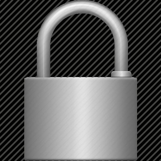 big, iron, lock, padlock, protection, secure, security icon