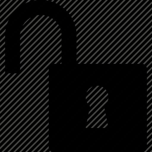 lock, open, padlock, unlocked, unsecure icon