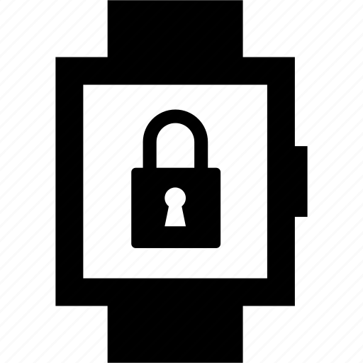 lock, locked, secure, security, smartwatch icon
