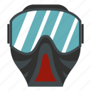 battle, extreme, game, mask, paintball, sport, uniform icon