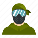 extreme, fight, game, mask, paintball, player, sport icon