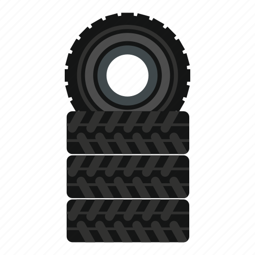 detail, paintball, pile, road, service, tire, wheel icon