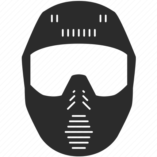 fun, head, helmet, mask, paintball, protection, rest icon