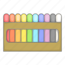colored, crayon icon