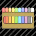colored, crayon icon