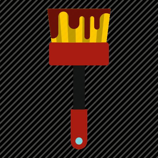 brush, decoration, drawing, paint, paintbrush, tool, work icon