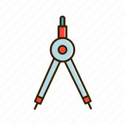 compass, design, geometric, measure, scale icon