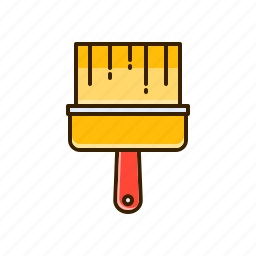 brush, coloring, paint, painting icon