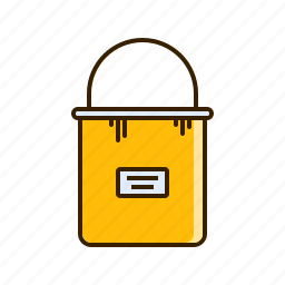 bucket, color, fill, paint, tool icon