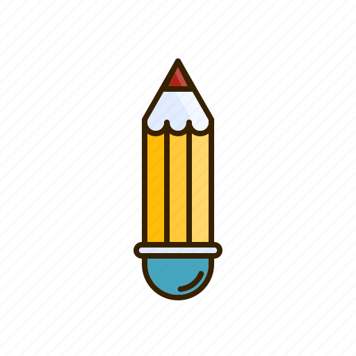 brush, drawing, lead, paint, pencil icon
