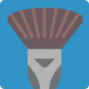 brush, drawing, fan, illustration, medium, painting, tool icon