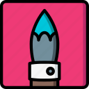 brush, drawing, illustration, paint, painting, tool icon